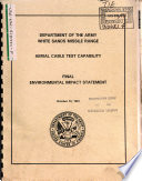 White Sands Missile Range  Aerial Cable Test Capability  ACTC  Book PDF