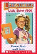 Karen's Book (Baby-Sitters Little Sister #100)