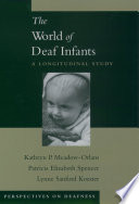 Cover of The World of Deaf Infants