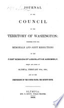 Journal of the Council of the Territory of Washington