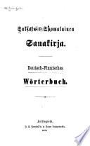 Saksalais-suomalainen sanakirja Deutsch-finnisches Wörterbuch