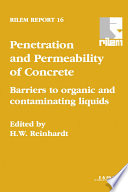 Penetration and Permeability of Concrete