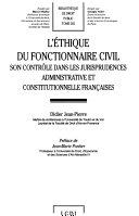 L'éthique du fonctionnaire civil