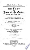 The History of the Pleas of the Crown