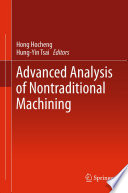 Advanced Analysis Of Nontraditional Machining Book PDF