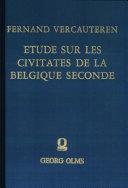 Pdf Etudes sur les civitates de la Belgique Seconde Telecharger