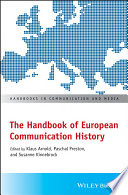 The Handbook Of European Communication History Book