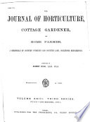 Journal of Horticulture  Cottage Gardener and Home Farmer Book PDF