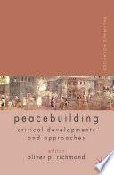 Palgrave Advances In Peacebuilding