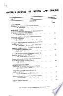 Journal of Mining and Geology