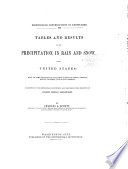 Tables and Results of the Precipitation  in Rain and Snow  in the United States Book