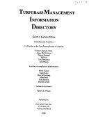 Turfgrass Management Information Directory