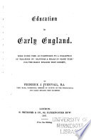 Education in Early England Book