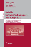Reliable Software Technologies    Ada Europe 2013