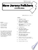 New Jersey Folklore  , Band 1