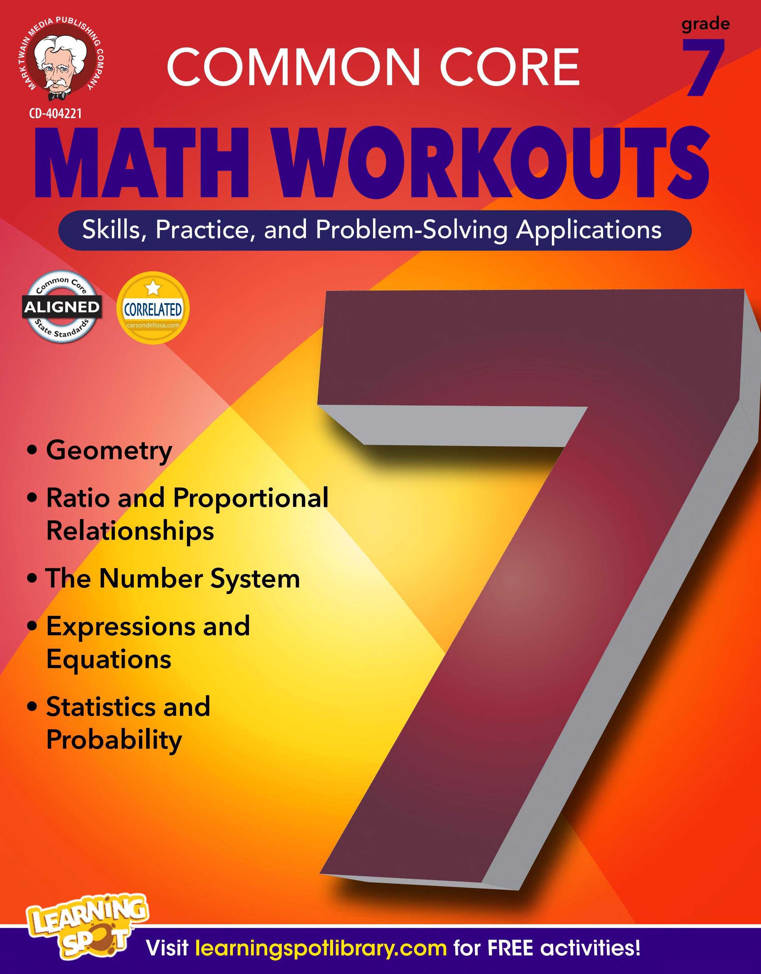 Common Core Math Workouts  Grade 7