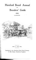 Hereford Breed Annual And Breeders Guide