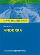 Textanalyse und Interpretation zu Max Frisch, Andorra