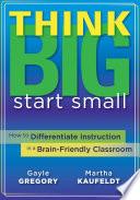 Think Big  Start Small Book