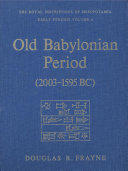 Old Babylonian Period  2003 1595 BC