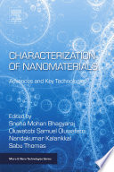 Characterization of Nanomaterials Book