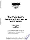 The World Bank s Population Lending and Sector Review