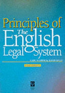 Principles of the English Legal System