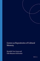 Genres as Repositories of Cultural Memory
