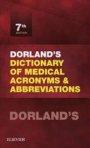 Dorland's Dictionary of Medical Acronyms and Abbreviations E-Book Pdf/ePub eBook