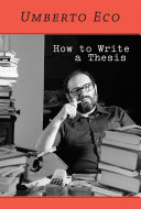 Pdf How to Write a Thesis