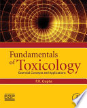 Fundamentals of Toxicology Book