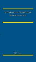 Pdf International Handbook of Higher Education Telecharger