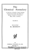 The Chemical Formulary Book