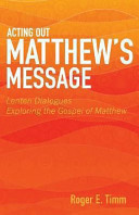 Acting Out Matthew S Message Book PDF