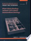 Biotechnology: Plant biotechnology, animal cell culture, immunobiotechnology