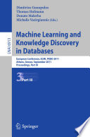Machine Learning and Knowledge Discovery in Databases  Part III