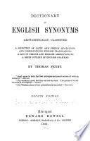 Dictionary of English Synonyms  Alphabetically Classified