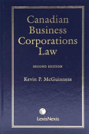 Canadian Business Corporations Law