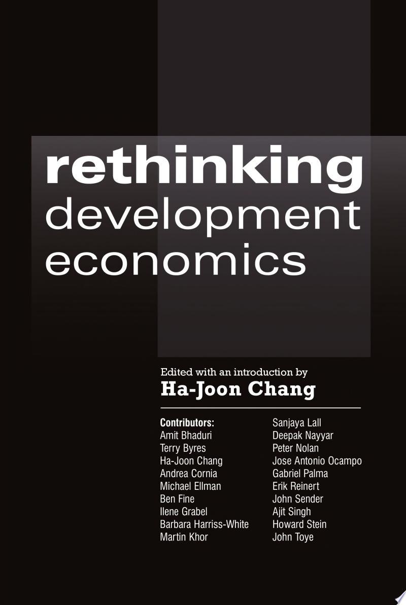 Rethinking Development Economics banner backdrop