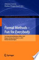 Formal Methods Fun For Everybody