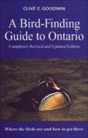 A Bird finding Guide to Ontario