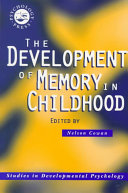 The Development of Memory in Childhood