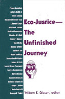 Eco-Justice--The Unfinished Journey