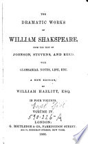 The Dramatic Works of Williams Shakspeare