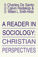 A Reader in Sociology; Christian Perspectives