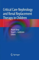 Critical Care Nephrology and Renal Replacement Therapy in Children Book