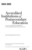 Accredited Institutions of Postsecondary Education  Programs  Candidates