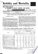 Morbidity and Mortality Weekly Report Book