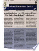 Controlling Police Use of Excessive Force Book