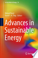 Advances in Sustainable Energy Book